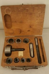 Vintage Lafayette Chassis Knockout Punch Set Screw Type With Case Shark Japan