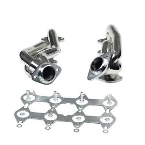 For 2004 10 Ford F150 5 4l V8 Stainless Exhaust Manifold Shorty Headers Manifold