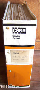 Case W36 Articulated Front End Wheel Loader Repair Service Manual 9 66874 287