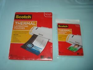 Scotch Thermal Laminating Pouches Tp3854 50 Tp5903 20 New 50 20 Count 3m