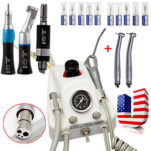 Usa Dental Air Turbine With Low high Speed Handpiece 4h tungsten Carbide Burs