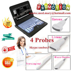 Hot Portable Ultrasound Scanner Laptop Machine Convex cardiac linear tranvaginal