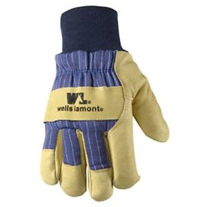 Men s Winter Work Gloves With Leather Palm 100 gram Insulation