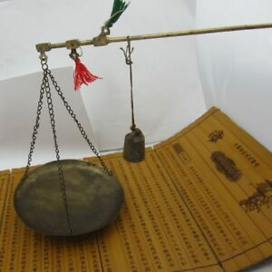 Chinese Old Bronze Chinese Medicine Steelyard Scale
