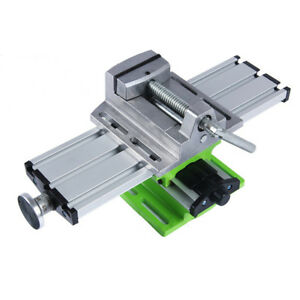 Compound Worktable Cross Slide Bench Drilling Milling Vise Clamp Working Table
