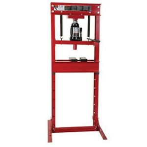 20 ton Hydraulic Shop Press With Bottle Jack Atd 7454 Brand New