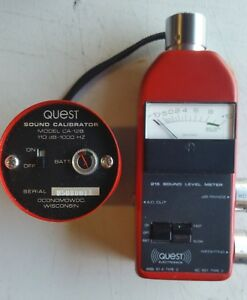 Quest Model 215 Sound Level Meter With A Matched Quest Sound Calibrator Model