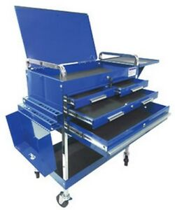 Deluxe Service Cart Blue Suu 8013abldlx Brand New