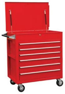Full Drawer Professional Duty Service Cart Red Suu 8057 Brand New