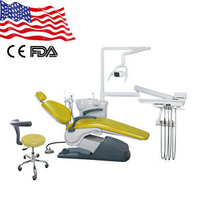Dental Unit Chair Hard Leather Computer Controlled Fda Ce Tj2688 Yellow 1gi