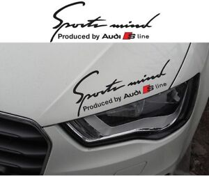 1 X Sports Mind Audi S Line Decal Sticker Compatible With Audi S3 S4 S5 S6 S7 S8