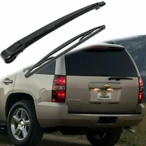 Rear Windshield Back Wiper Arm Blade Set For Chevrolet Tahoe Suburban 2007 2013