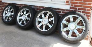 Set Of Four 2012 Cadillac Escalade 22 Factory Wheels Tires W Tps Free Shipping
