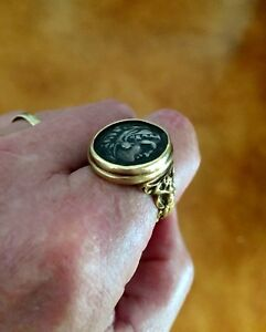 18k Gold Ring Alexander The Great Iii Ar Tetradrachm Coin Ring