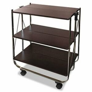 Vertiflex Click n fold Utility Cart Chrome brown vrtvf51022