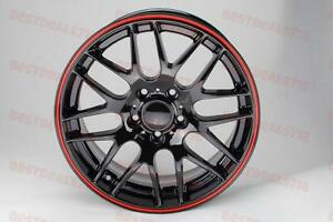 19 Csl M3 Black Red Lip Style Wheels Fits Bmw 320i 323i 335i 428i 435i F30 Stag