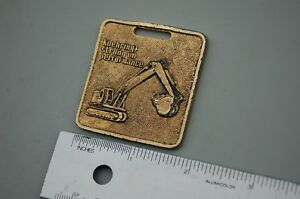 Koehring Trackhoe Excavator Crawler Vintage Watch Fob Brass Rowen Leahy Company