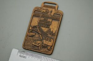Michigan Air Control Shovel Crane Truck Excavator Vintage Watch Fob Brass Mount