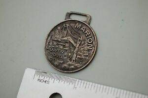 Marion Power Shovel Excavator Vintage Watch Fob Heavy Equipment Earth Mover