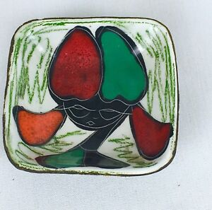 Vintage Small Jewelry Ring Mid Century Modern Abstract Modernist Art Dish
