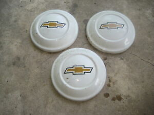 1970s 1972 1979 Chevy Luv Bowtie Dog Dish Hubcaps Oem 1973 1974 1975 1976 77 78