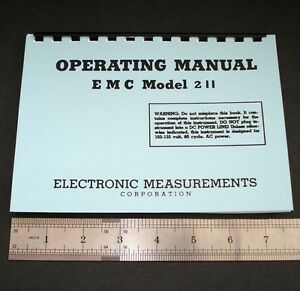 Manual And Test Data For Emc Model 211 Tube Testers Dated 1960 5 5x8 Format