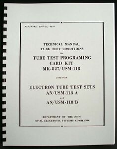 133 Page 1968 Tube Test Conditions For Hickok Cardmatic Tube Testers An usm 118