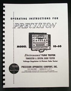 Precision Tube Tester 10 60 Operating Instructions