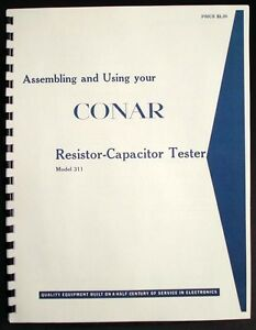 Conar Model 311 R c Tester Assembly Operating Manual