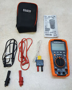 Great Condition Klein Tools Mm600 Auto ranging 1000v Digital Multimeter W case