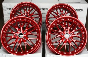 Alloy Wheels 18 Cruize 190 Fcr Candy Apple Red Deep Dish 5x112 18 Inch Alloys