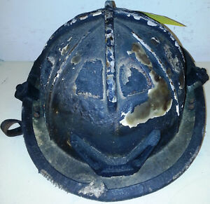 Firefighter Bunker Turn Out Gear Cairns 1010 Black Helmet Reflector Burnt H122