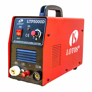 Pilot Arc Plasma Cutter Lotos Ltp5000d Dual Voltage 50 Amp 110v 220v Compact New