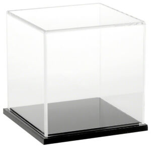 Plymor Acrylic Display Case With Black Base 6 X 6 X 6
