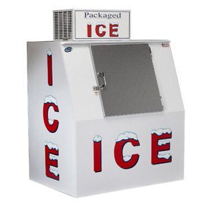 Ice Merchandiser Commercial Machine Outdoor Bag Vendor Bagged Lee Slant Freezer