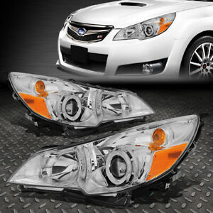 For 10 14 Subaru Outback Legacy Chrome amber Corner Projector Headlight Headlamp