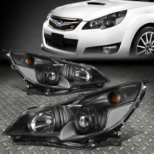 For 10 14 Subaru Outback Legacy Black clear Corner Projector Headlight Headlamp