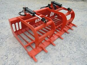Kubota Skid Steer Tractor Attachment 72 Rock Bucket Tooth Grapple Ship 149