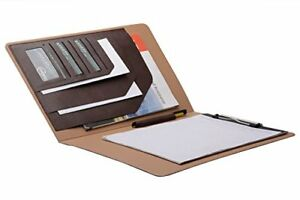Folio Cover Case With Spring Clip Pad For Organizing Loose Documents