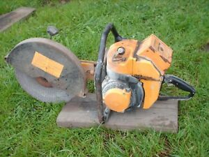 Vintage Partner Concrete Metal Chop Cut Off Saw 5hp R12 Muscle Chainsaw 1960 s
