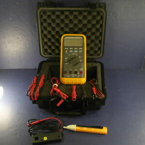 Fluke 88 Automotive Meter Excellent Screen Protector Clamp Hard Case