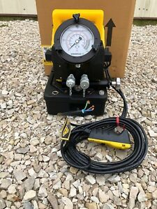 New Enerpac Pme 10422q Torque Wrench Hydraulic Electric Pump 1 2hp 10 000 Psi