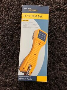 Fluke Networks Ts 19 Telephone Test Set Yellow 19800hd9