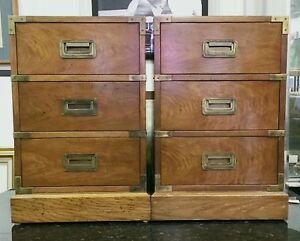 1960s Milling Road Baker Furniture Small Campaign Style Cabinets Local Pickup