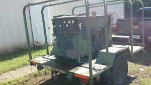 Military Mep 802a 5kw Diesel Generator W trailer 120 240 Single Phase Or 3ph