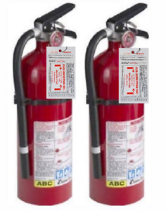 Kidde 21005779 Pro 210 Fire Extinguisher Abc 160ci 4 Lbs 2 Pack Tagged