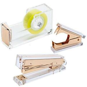 Draymond Story Acrylic Gold Stationery Bundle Set 1 Stapler 1 Staple