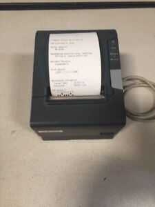 Epson Tm t88v Pos M244a Thermal Receipt Printer W power Supply powered Usb Int