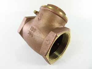 Legend 3 Inch Fnpt Brass Swing Backflow Check Valve T s 451 105 110 Lot Of 4