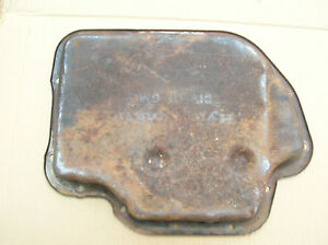 Th 400 Shallow Transmission Pan Oem Steel Good Used Minor Dings Outside Has Rust